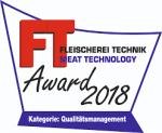 WEBOMATIC wins FLEISCHEREI TECHNIK Award 2018!